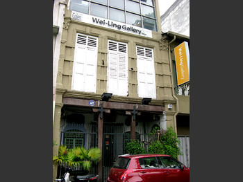 Wei-Ling Gallery occupies the upper floors of a pre-war building that survived a fire in 2004