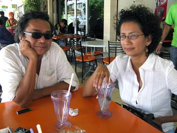 Film director Dain Iskandar Said and Nandita Solomon