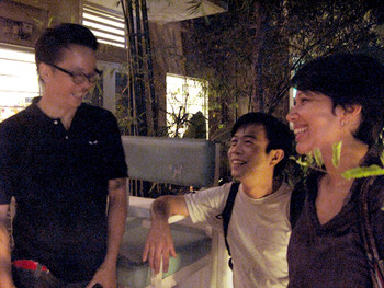 (Left to Right) Chris Chong (filmmaker), Wong Hoy Cheong (artist) and Eva McGovern (critic/writer)