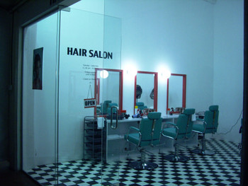 Leandro Erlich, Hair Salon, 2008, installation.