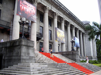 City Hall, one of the biennale's venues, represents the present in transition.
