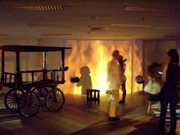 Srinivasa Prasad, I Wonder Why?, 2008, site specific installation.
