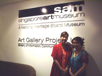 Geraldine Cheang, SAM Assistant Manager (Public Education), Susanna Chung, AAA Education