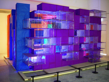 Jason Wee, In My School Are Many Rooms, 2008, site-specific installation.