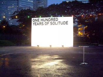 Heman Chong, One Hundred Years of Solitude, 2008, public art installation.