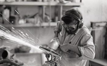 Raghav Kaneria working on Sculpture