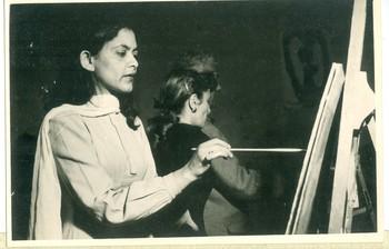 Studying at L'Ecole des Beaux-Arts (Set of 2 Photographs)