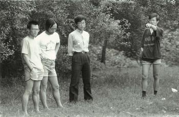 (From left) Shu Qun, Ren Jian, Teacher from Wuhan University, Lu Peng