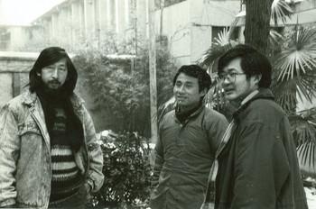 (From left) Wang Guangyi, Yan Shancun, Lu Peng