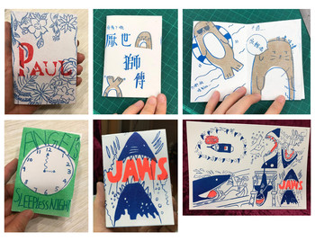 Image: A collage of zines created by students. Courtesy of Peggy Kwan.