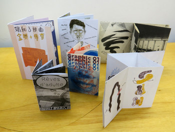 Image: A selection of zines covering various topics. Courtesy of Beatrix Pang.