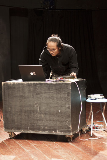 Photo Documentation of Performance by Kai Lam at R.I.T.E.S. January 2011