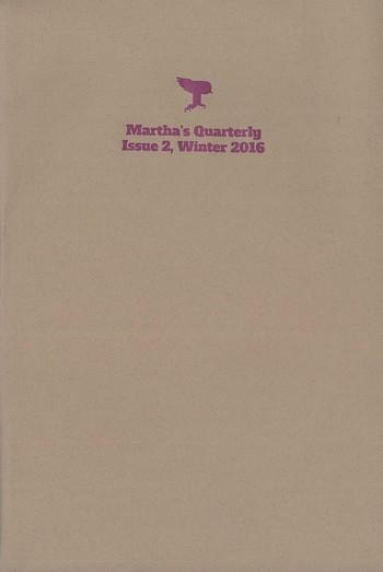 Martha's Quarterly Issue 2 Winter 2016_Cover