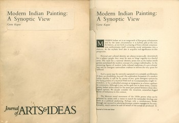 Modern Indian Painting A Synoptic View