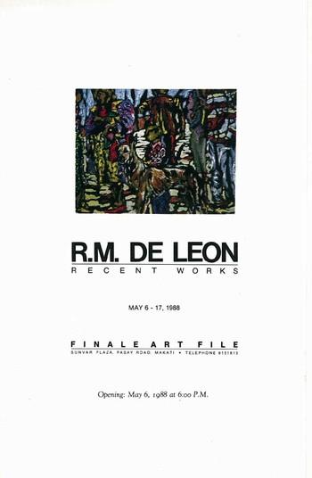 R.M. de Leon: Recent Works