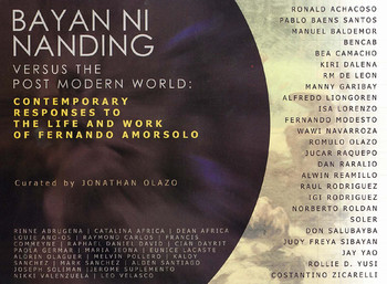Bayan Ni Nanding Versus the Post Modern World: Contemporary Responses to the Life and Work of Fernan