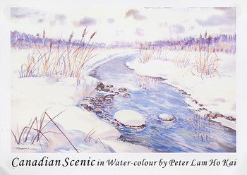 Canadian Scenic in Water-colour by Peter Lam Ho Kai