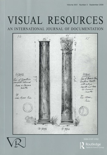Visual Resources: An International Journal of Documentation (All holdings in AAA)