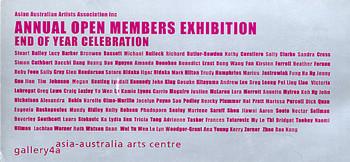 Asian Australian Artists Association Inc. -  Annual Open Members Exhibition / End of Year Celebratio