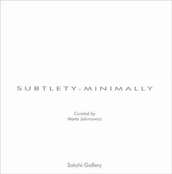 Subtlety-Minimally