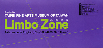 La Biennale di Venezia - 50th International Art Exhibition: Limbo Zone