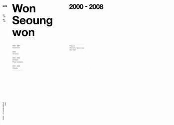 Won Seoung Won 2000-2008