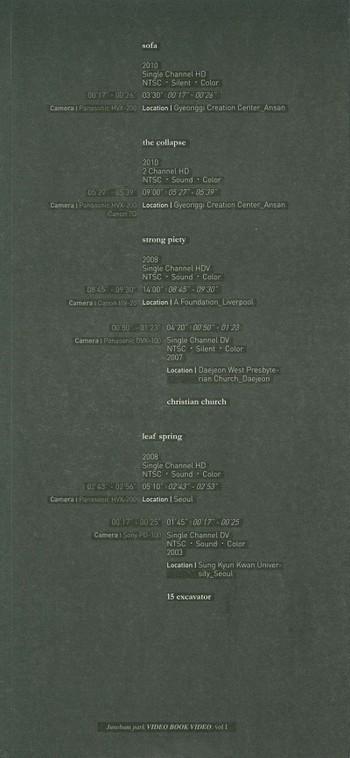 Junebum Park: Video Book Video Vol I