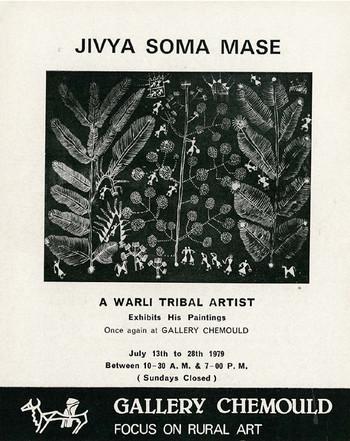 Jivya Soma Mase: A Warli Tribal Artist Exhibits His Paintings