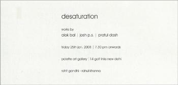 Desaturation: Works by Alok Bal, Josh P.S., Pratul Dash