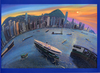 Nicholas Hely Hutchinson recent paintings of Hong Kong and Shanghai