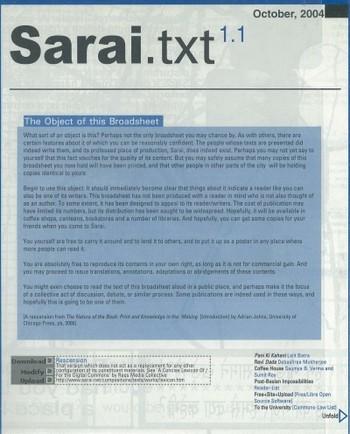 Sarai.txt (All holdings in AAA)