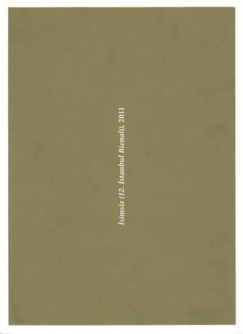 Untitled (12th Istanbul Biennial), 2011: The Catalogue
