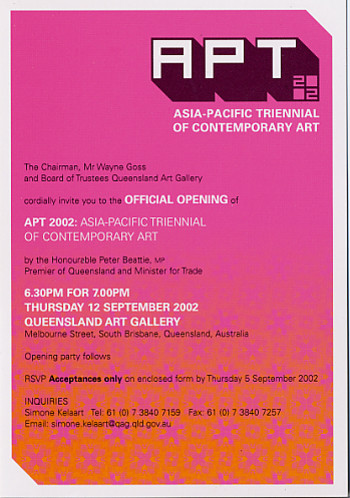 APT 2002 - Asia-Pacific Triennial of Contemporary Art