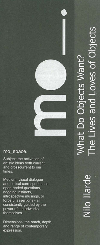 Nilo Ilarde: What Do Objects Want? The Lives and Loves of Objects