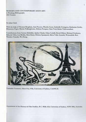 Modern and Contemporary Asian Art: A Working Bibliography (2011 Version)