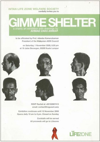 Gimme Shelter: A Charity Art Exhibition with Drawings by Ahmad Zakii Anwar