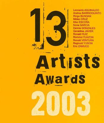 13 Artists Awards 2003