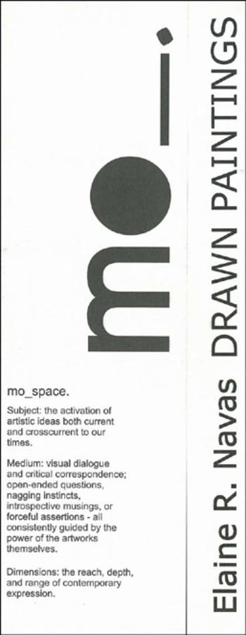 Elaine R. Navas: Drawn Paintings