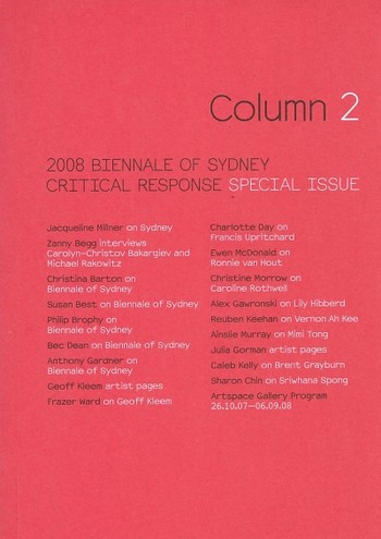 Column 2: 2008 Biennale of Sydney Critical Response