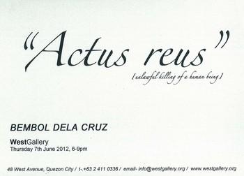 Bembol Dela Cruz: Actus Reus: Unlawful Killing of a Human Being