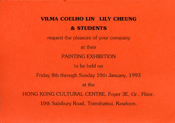 Vilma Coelho Lin, Lily Cheung & Students Painting Exhibition