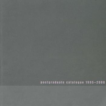 Postgraduate Catalogue 1995-2000