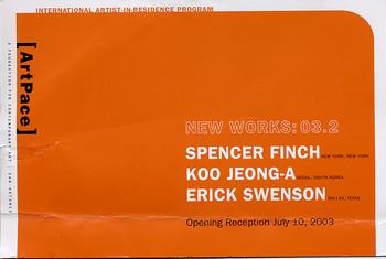 International Artist-in-Residence Program - New Works: 03.2