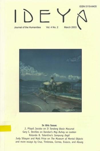 Ideya - Journal of the Humanities (All holdings in AAA)
