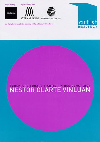 Sculpture Square's Artist in Residency 2004: Nestor Olarte Vinluan