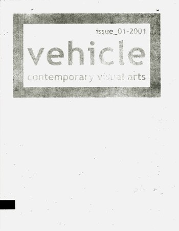 Vehicle: contemporary visual arts (All holdings in AAA)