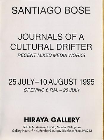 Journals of a Cultutral Drifter