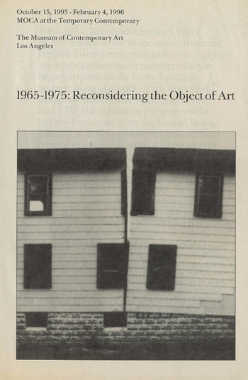 1965-1975: Reconsidering the Object of Art (Exhibition Guide)