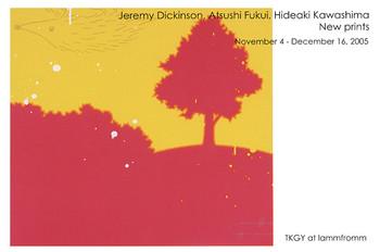 Jeremy Dickinson, Atsushi Fukui, Hideaki Kawashima - New Prints