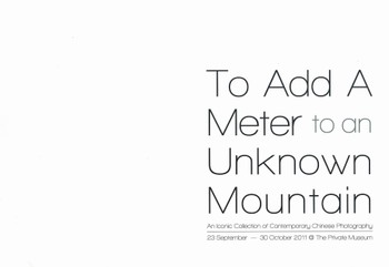 To Add a Meter to an Unknown Mountain: An Iconic Collection of Contemporary Chinese Photography